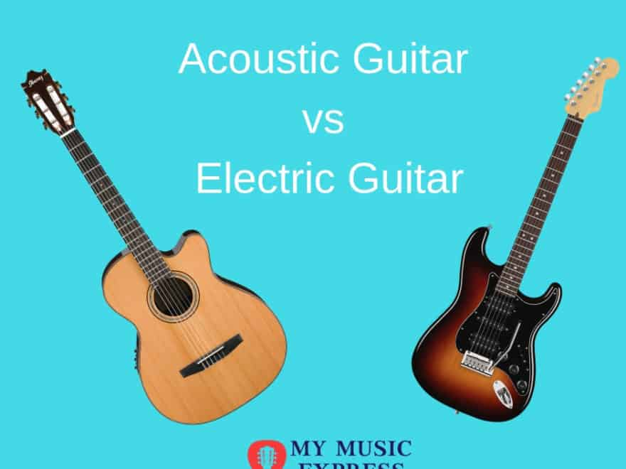 acoustic guitar vs electric guitar which is right for you my music express. Black Bedroom Furniture Sets. Home Design Ideas