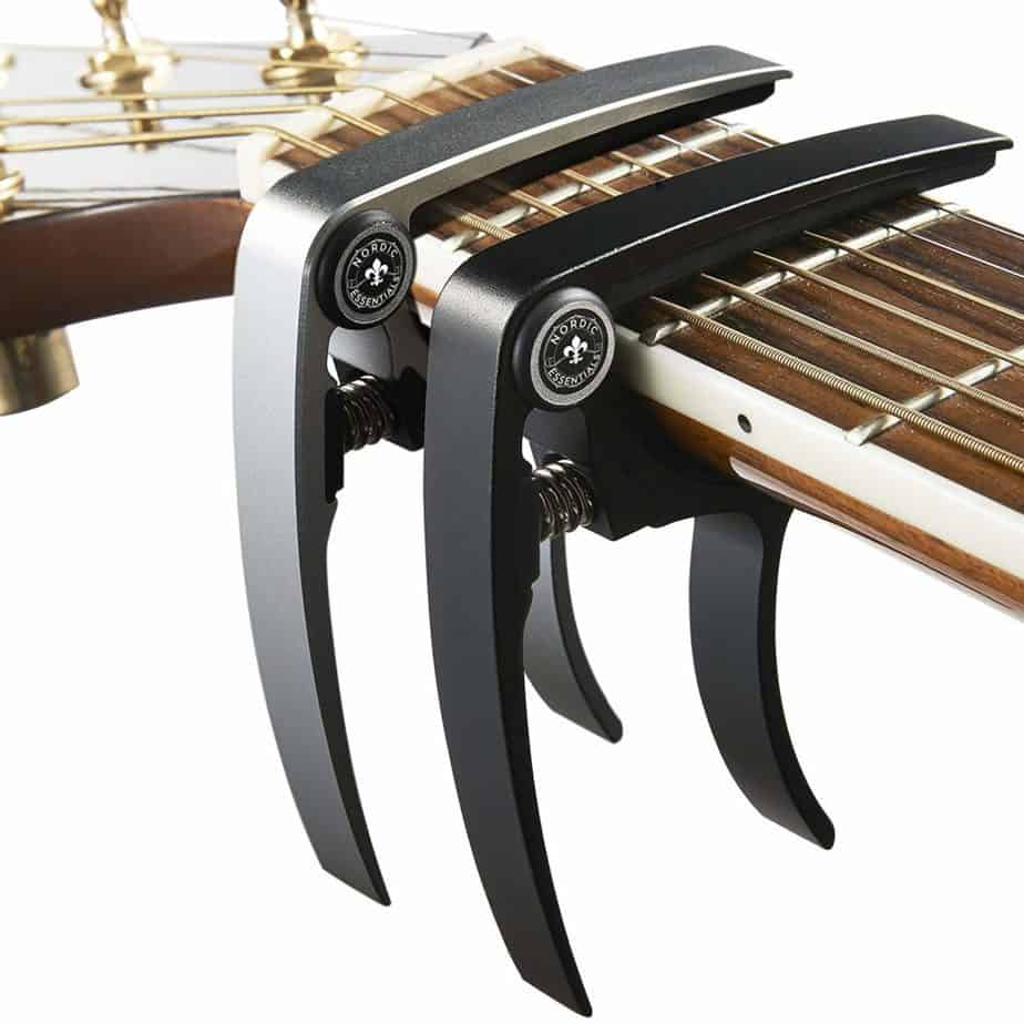 best capo for guitars - Nordic Essentials Aluminium Metal Universal Guitar Capo