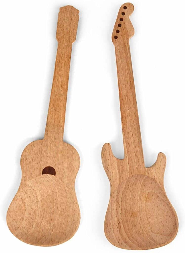 Bamboo Guitar Neck Shaped Kitchen Cooking Utensil Set