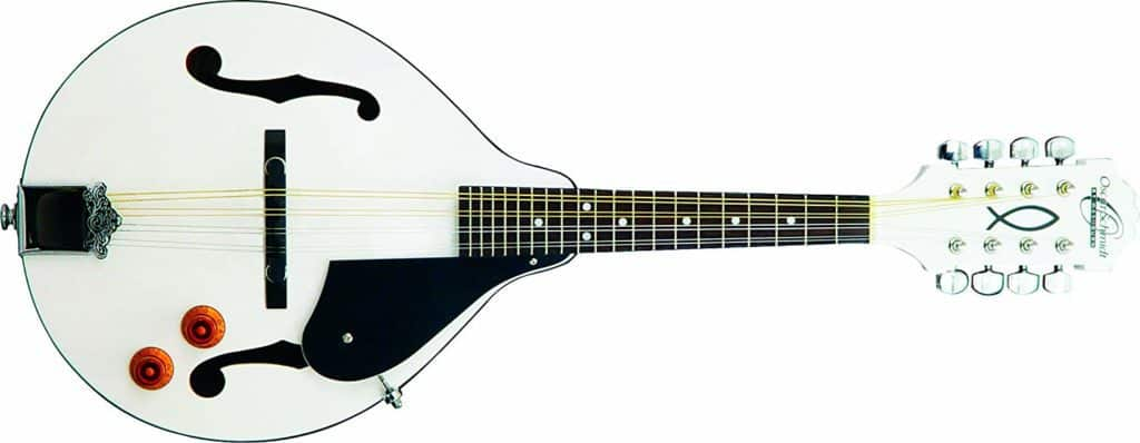 Oscar Schmidt's OM10EWH-O-U 8-String Electric Mandolin White Finish