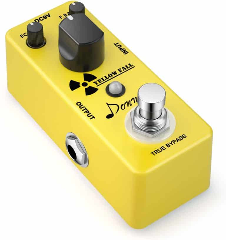 Yellow Fall Vintage Pure Analog Delay Guitar Effect Pedal True Bypass by Donner