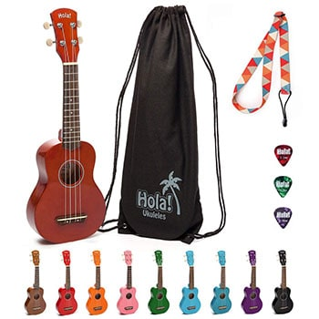 Hola! Music HM-21MG Soprano Ukulele Bundle