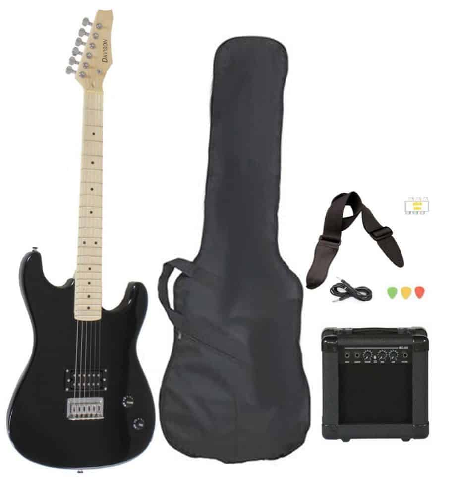 Full-Size Black Electric Guitar