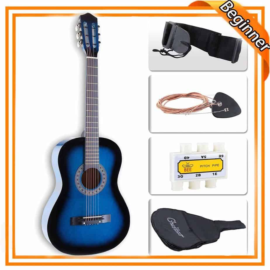 LAGRIMA 38 Inch Beginner Acoustic Guitar Starter Set