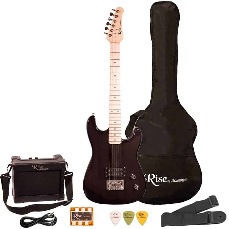 Sawtooth ST-RISE-ST-ST-3/4-BLK-KIT-1 Electric Guitar
