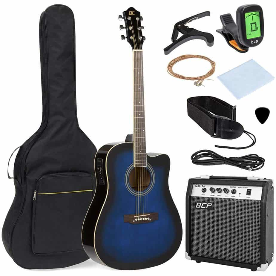 Acoustic-Electric Cutaway Guitar Set
