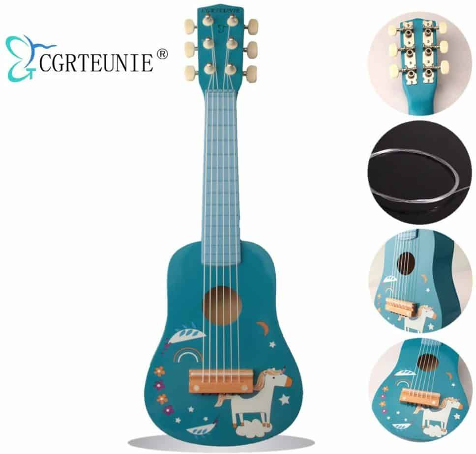 CGRTEUNIE wooden guitar for kids