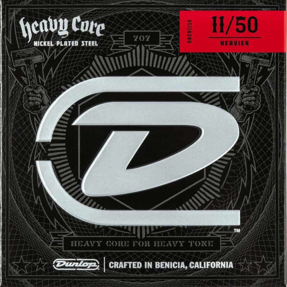 Dunlop DHCN1150 Heavy Core Nickel Wound Guitar Strings