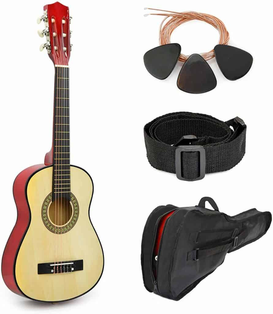 Natural Wood Guitar for Kids