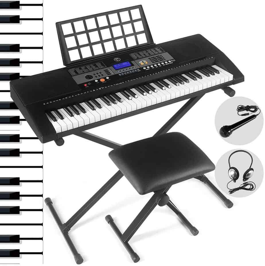 FITNESSCLUB 61 Key Electric Keyboard Piano