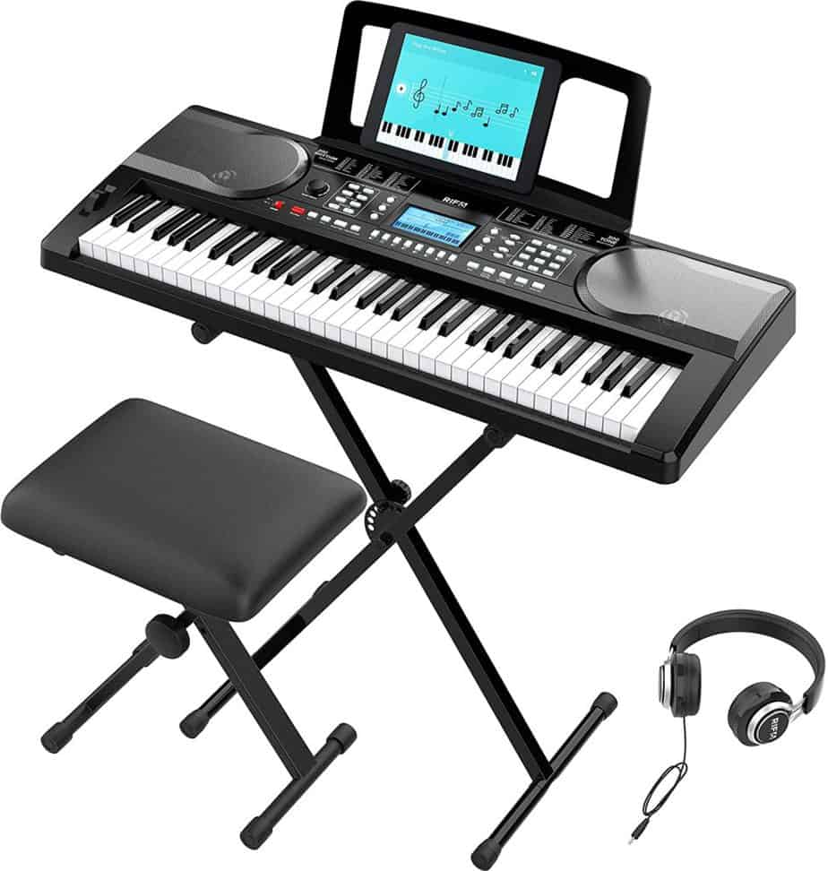 RIF6 Electric 61 Key Piano Keyboard