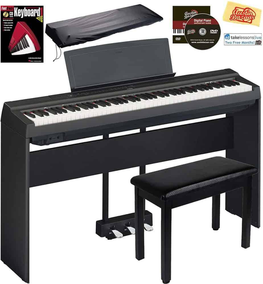 Yamaha P-125 Digital Piano - Black Bundle