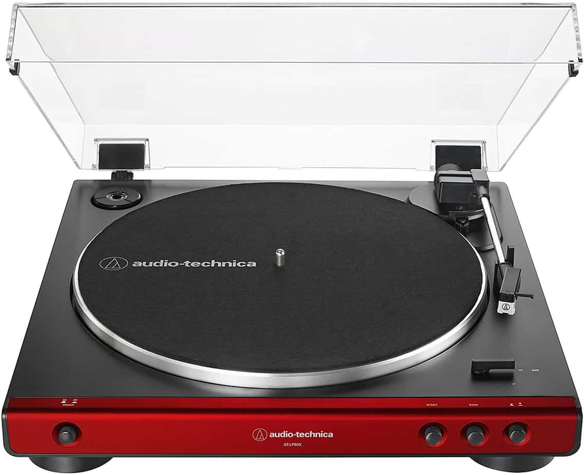Audio-Technica AT-LP60X-RD Turntable