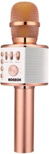 BONAOK WIRELESS Bluetooth Karaoke Q37 ROSE GOLD
