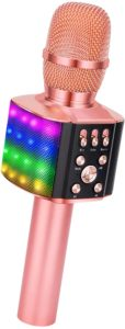 BONAOK Wireless Bluetooth Karaoke with Rainbow LED