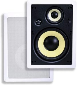 Caliber Series8-inch Fibre in-wall speakers