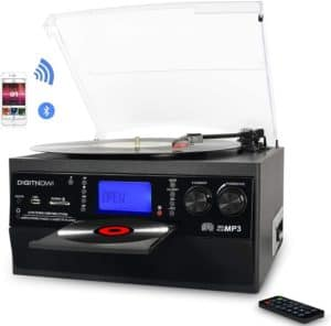 DIGITNOW Bluetooth Record Player Turntable