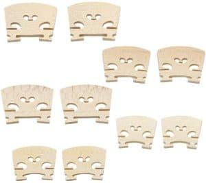 Hordion 10 pcs 5 size maple Best Violin Bridge