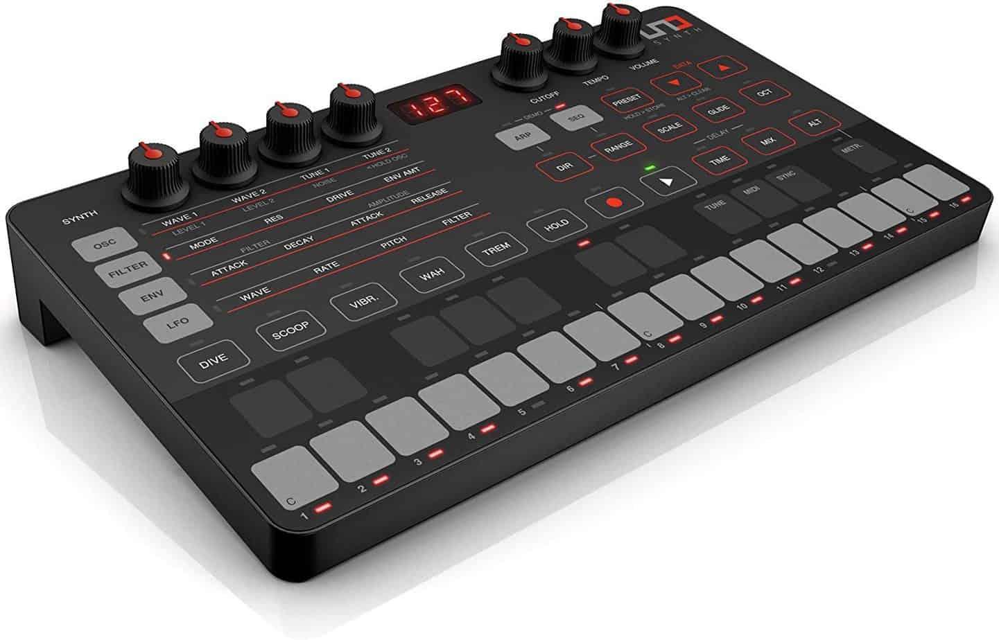 IK Multimedia UNO synth portable monophonic analog synthesizer – best synthesizer for fl studio