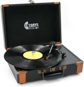 Portable Bluetooth Turntable with Stereo Speakers by VInYL MUSIC ON