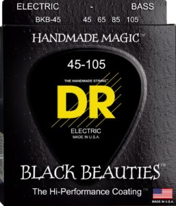 Black Coated Black Beauties- Bass Strings from DR