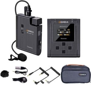 Comica BoomX–U1 48 Channel UHF Wireless Lapel Microphone
