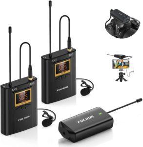 FULAIM WM300 Camera Mount Wireless Lavalier Microphone System