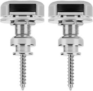 Guitar Strap Locks 2 Pcs W/Button STL-18, Nickel