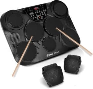 Pyle Tabletop Portable Drums with 7 Pads