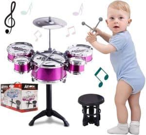 SKLOER Kids Drum Set Toddler Instrument