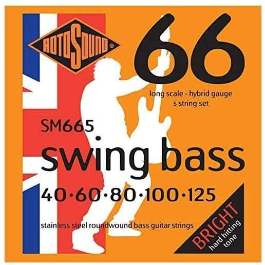 Swing Bass String set made of Stainless Steel from Rotosound