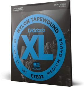Tapewound Bass Strings (Medium) from D'Addario