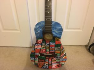 how to paint a guitar