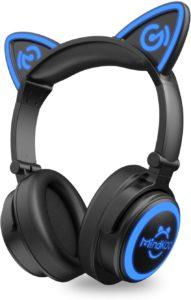 MindKoo Bluetooth Cat Over-Ear Wireless Headphones