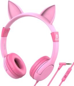 iClever Kids Cat-Inspired Headphones with Food Grade Silicone and Led Backlight