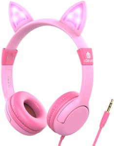 iClever Kids Headphones with Led Backlight: Safe Wired Cat-Inspired Kids Headsets