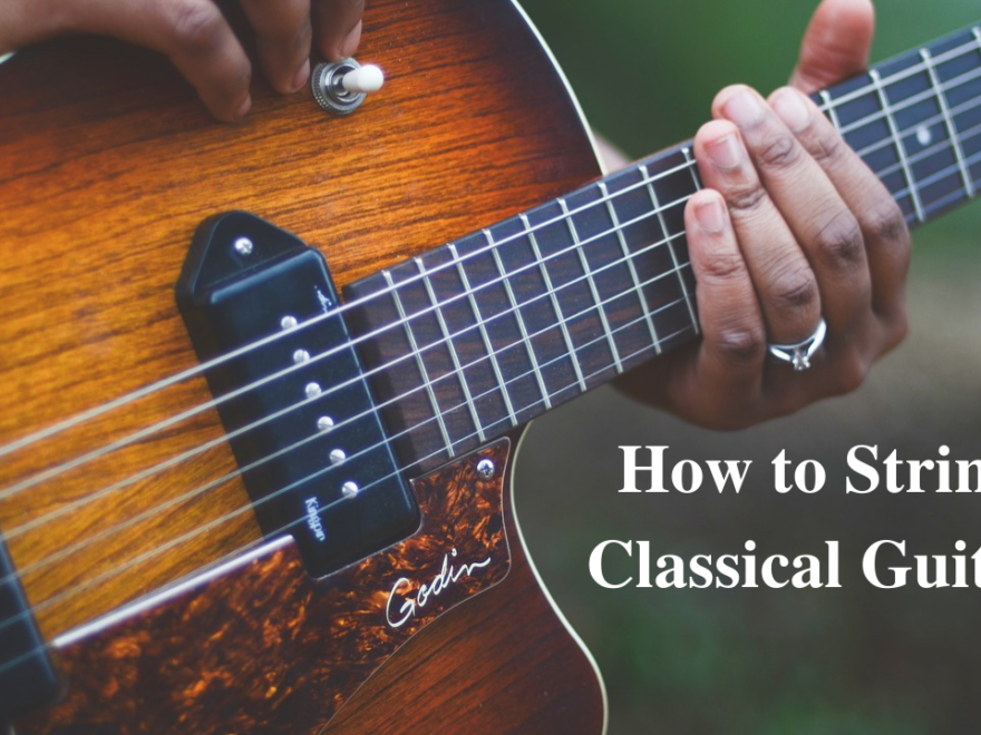 How To String A Classical Guitar 26
