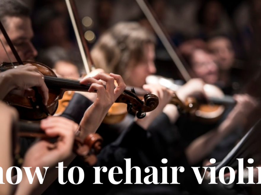 how to rehair violin